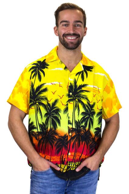 Funky Hawaiian Shirt Beach Blue Short Sleeve