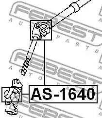 Steering Shaft Universal Joint FEBEST AS-1640