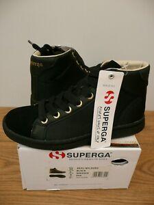 NEW SUPERGA Size 35 / 2.5 Black SUEDE