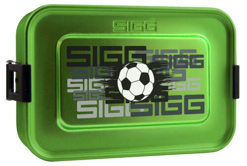 SIGG Vesper-Dose Alu Box Lunchbox FUSSBALL Aluminium Vorratsdose Schule Camping