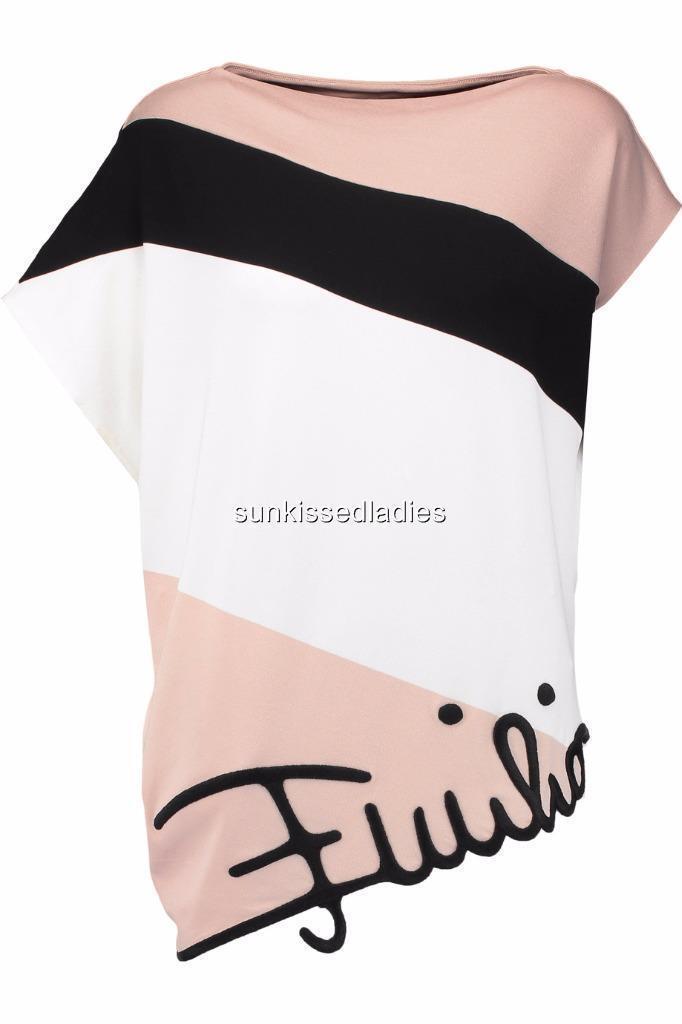 EMILIO PUCCI Logo top, IT40 UK8 rrp990GP Dress Kaftan Tunic, New