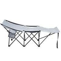 Folding Portable Camping Adventure Camp Bed Durable Hammock Sleeping Cot Steel