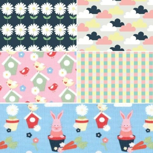 Vegetable Patch Floral 100/% Cotton Fabric Patchwork Fabric Freedom