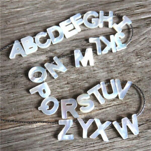 image is loading 1x white shell alphabet article words a z stainless
