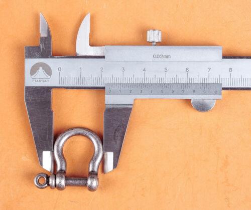 10 pcs 10mm HORSE D Shackle Rings for Keyring Key Pouch Belt Loop Fastener Clip