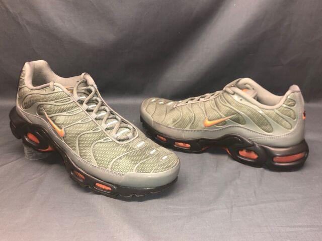 huge selection of f248b 32a08 Nike Men's Air Max Plus SE Running Sneakers Dark Green Gray Orange Size 12  NEW!
