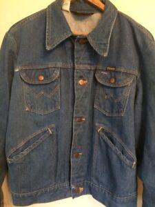 febcb910 Vintage Wrangler Denim Jacket Size 44 124MJ 14 OZ PLUS SANFORIZED ...