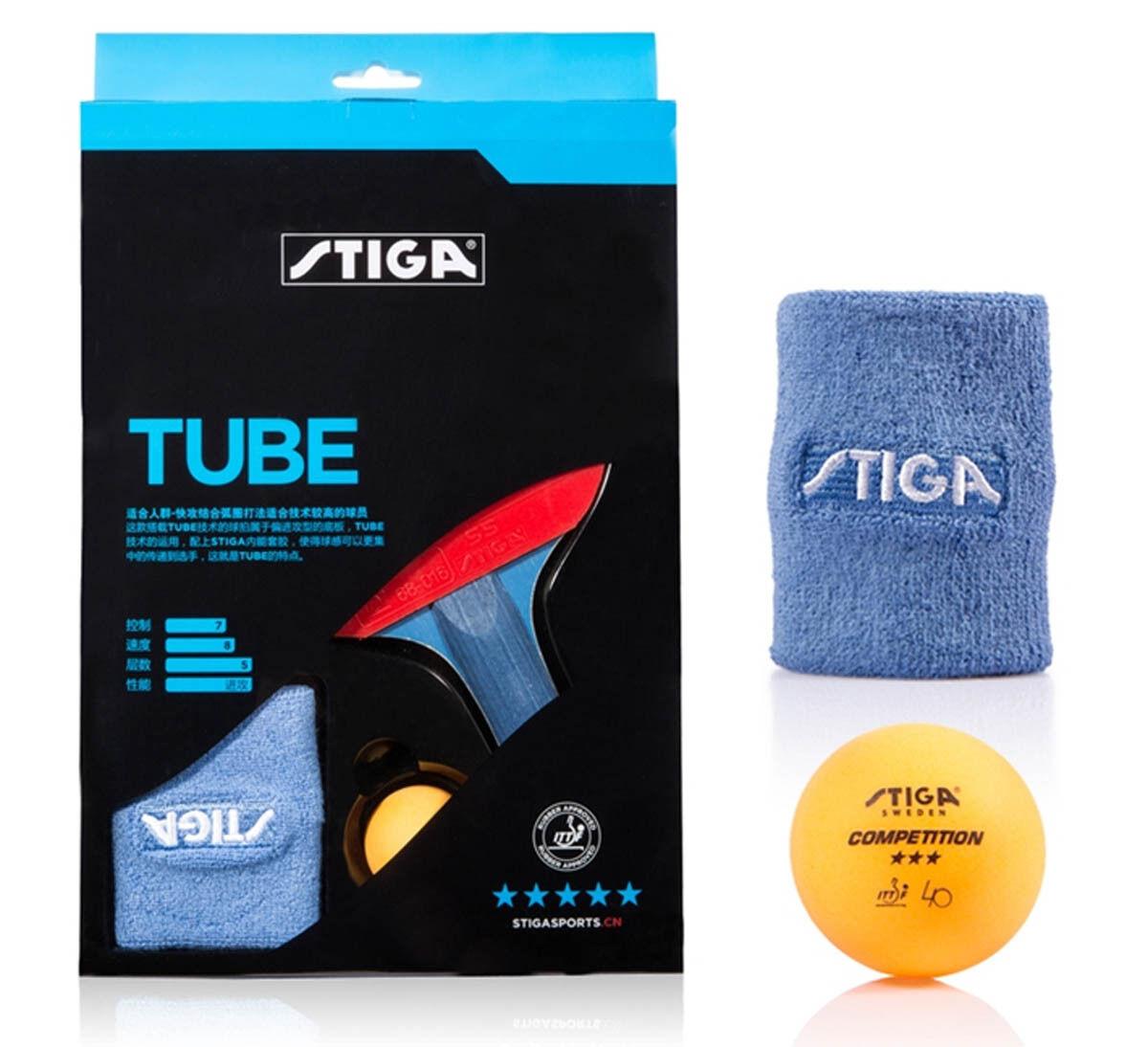 STIGA 5-Star Table Tennis Bat, New, AUD