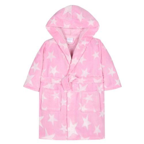 Girls//Kids Soft Plush Fleece Dressing Gowns//Bathrobe Snuggle Cosy Warm Gift 2-13