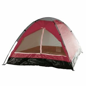Two Person 2 Man Red Tent with Carry Bag Kids Teens Camping Easy Assembly