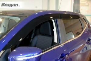 To-Fit-2014-Nissan-Qashqai-Smoke-Tinted-Window-Wind-Rain-Deflectors-Adhesive