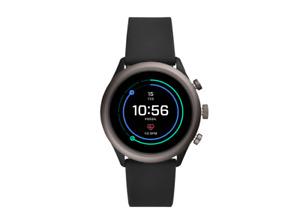 Fossil FTW4019 Sport Smartwatch Aluminium Silikon 200mm Schwarz/Grau wie NEU OVP