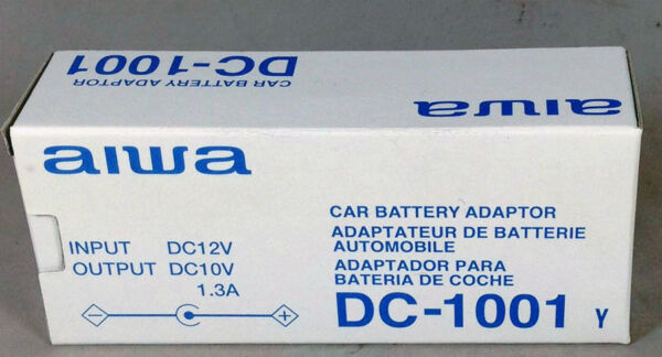 Doelstelling Aiwa Car Battery Adapter / Car Charger Dc -1001 - Input Dc 12v Output: 10v 1.3a Superieure (In) Kwaliteit