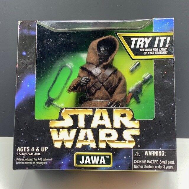 Star Wars action figures power force kenner vtg nib 1997 Jawa light up eyes robe