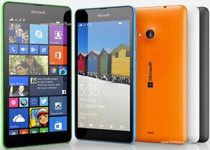 "Unlocked Original Nokia Lumia 535 Windows Quad Core 5"" Black Wifi 5MP camera GSM"