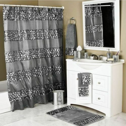 Sparkly Shower Curtain Unique Sequin Fabric Bling Sparkle Gorgeous Bathroom Dfdeb1
