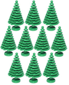 10-NEW-LARGE-LEGO-CHRISTMAS-TREES-pine-parts-pieces-tall-4x4x6-2-3-3471-greenery