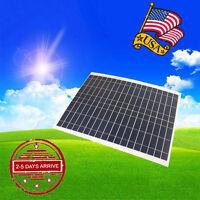 20w Watt 12v 12 Volt Solar Panel Battery Charger Rv Boat Camping Off Grid