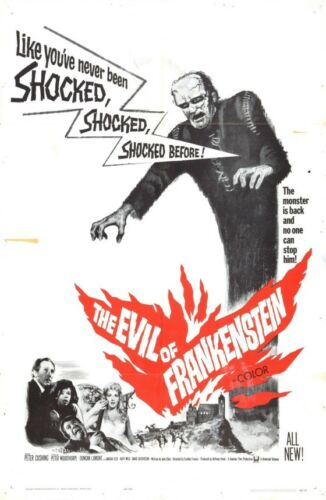 THE EVIL OF FRANKENSTEIN B-MOVIE REPRODUCTION ART PRINT A4 A3 A2 A1