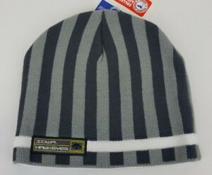 44e05d26a1c Iowa Hawkeyes Striped Beanie Hat Knit Stocking Cap NCAA Licensed NWT ...
