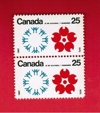 1970  #  508pii ** VHNH IDENTICAL PAIR W2B  CANADA STAMPS EXPO 70 JAPAN