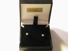 18ct Yellow Gold 3mm Ball Stud Earrings w/Butterfly Back-Scroll Backs-18k/.750