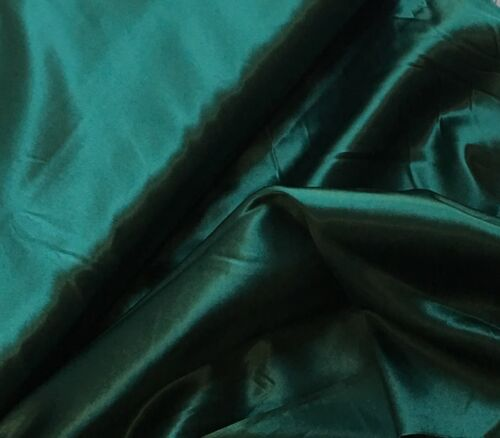 "BY THE YARD DARK GREEN SATIN-POLY-44/""W"