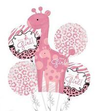 Baby Shower It's A Girl Jungle Zebra Cheetah Balloon Bouquet Set