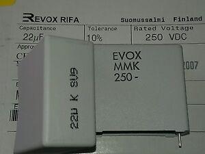 [2 pcs] MMK  22uF  250V 10% Polyester Film Capacitor EVOX RIFA