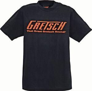 AgréAble Great Gretsch Sound Logo Guitare T-shirt Extra Large Xl 100% Coton-afficher Le Titre D'origine Forte RéSistance à La Chaleur Et à L'Usure