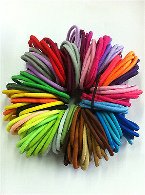 Cute 50 pcs Colorful Hair Elastics Hairband Bobbles Bands Ponios Mix Headband