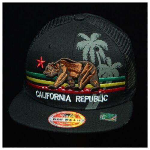Plain Baseball Cap Mesh Trucker Hat CALI Bear Caps California Republic Snapback