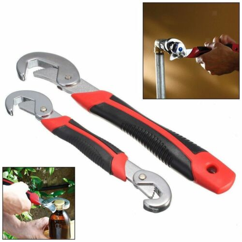 2 Pieces Wrench Self Adjustable Multi-Function Universal Pipe Spanner 9-32mm