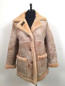 28398f8b22722a Image is loading Vintage-Schott-Shearling-Sheepskin-Suede-Leather-Women-039-