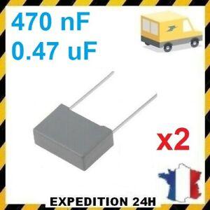 Lot-de-2-Condensateurs-MKP-X2-0-47uF-0-47-F-470nF-474K-275V-310V-15mm