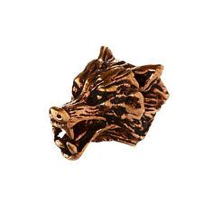 Haarschmuck Bartperle VUKI Wolfskopf mit großer Öffnung Bronze Lockenperle 6411