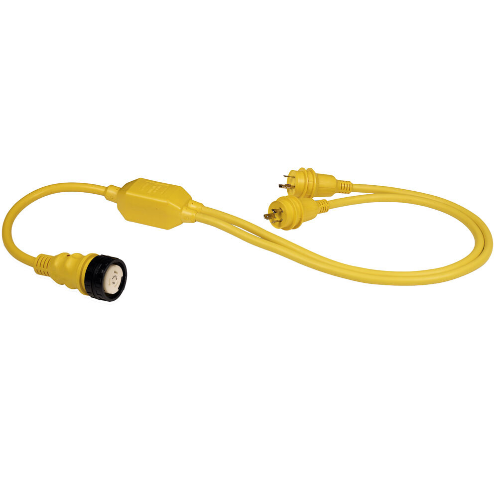 Marinco RY504-2-30 50A Female to 2-30A Male Reverse  Y  Cable