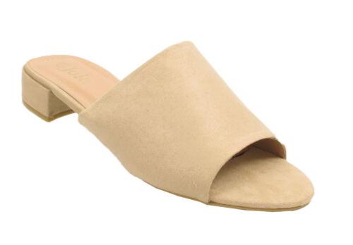 Femmes Bout Ouvert Mules Femmes Sandales Chic Lacet Talon Bloc Sliders 3 4 5 6 7 8