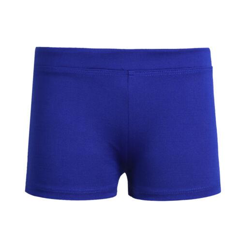 Kids Girls Shiny Shorts Pants Gymnastics Dance Sport Swimming Metallic Booty