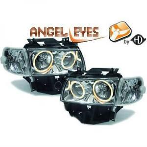 VW-T4-Multivan-Angle-Eyes-Scheinwerfer-Set-klar-chrom-H7-Bj-97-03