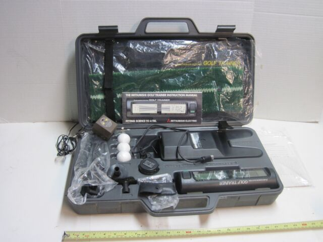 Mitsubishi GL-500 Electric Golf Swing Trainer For Parts or Repair Case Mat