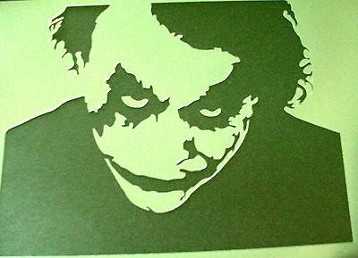 NEW M2 THE DARK KNIGHT JOKER BATMAN Airbrush Stencil Mask Paint Step Movie