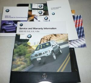 2003-BMW-X5-3-0i-4-4i-4-6is-OWNERS-MANUAL-SET-guide-03-3-0-4-4-4-6-i-w-case