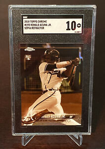 2018-Ronald-Acuna-Jr-Topps-Chrome-Sepia-Refractor-193-RC-Rookie-SGC-10-Gem-Mint
