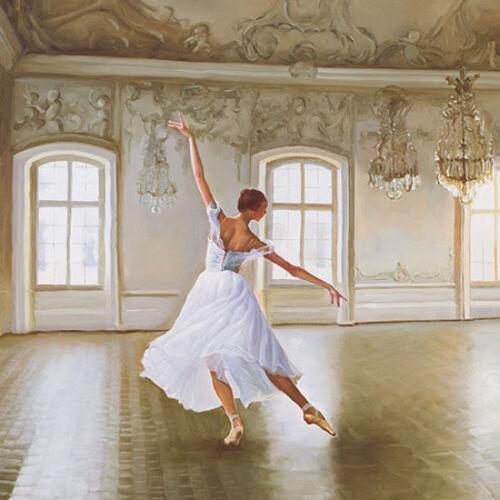 le grand salon toîle on frame dance ballet girl image show original title Details about  /Pierre benson
