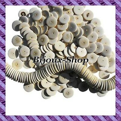 1 wire 130pcs Coconut disk 10 mm natural colors