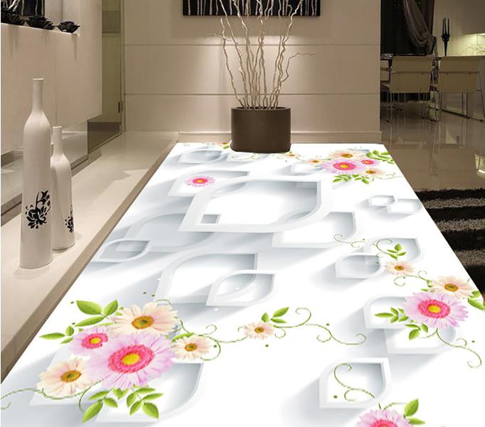 3D Daisy Vine Design 45 Floor WallPaper Murals Wall Print Decal AJ WALLPAPER