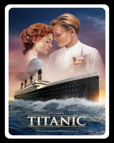 Titanic Leonardo DiCaprio Kate Winslet Film Poster Métal Signe Plaque Murale 1698