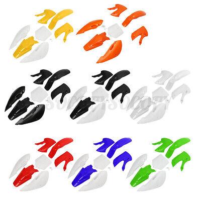 Yellow//White Fender Kit Fairing for Pit Bike Dirtbike KLX//DRZ 110 KLX110 KX65 Plastic Fender