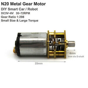 N20-Micro-Gear-Motor-DC3V-5V-6V-72RPM-Full-Metal-Gearbox-for-DIY-Smart-Car-Robot